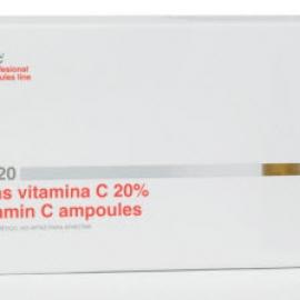 Serum giảm nám đốm nâu, chống lão hóa Mesoestetic Ampoules of Vitamin C 20%