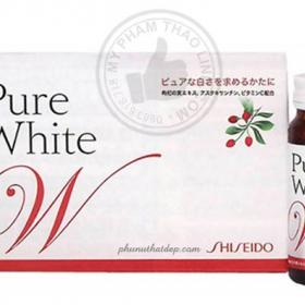 Nước Uống Làm Trắng Da Từ Nhật Pure White Shiseido Collagen