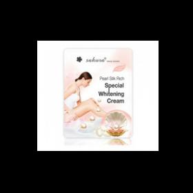 Kem Tắm Trắng Sakura Pearl Silk Rich Special Whitening Cream