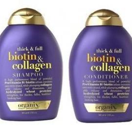 Bộ dầu gội và xả tóc OGX Thick and Full Biotin and Collagen Shampoo