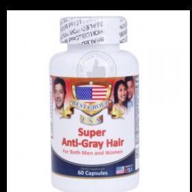 Anti Gray Hair - Viên uống đặc trị tóc bạc sớm giúp đen tóc của Mỹ